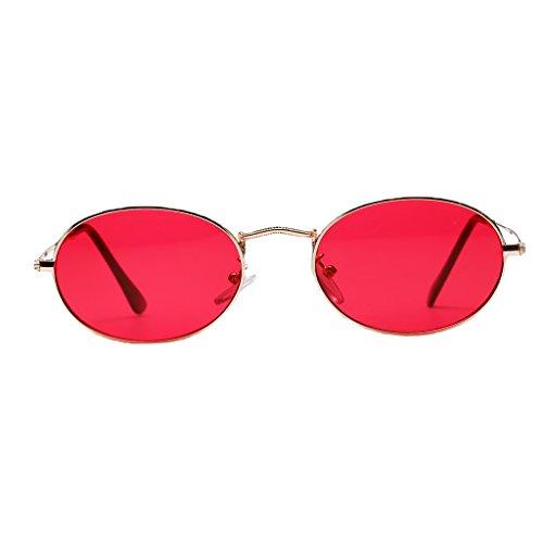 Metal blanca Rojo Dolity de Gafas Mujer Unisex Espejo Hombre 50 Vintage Plano mm Accesorios UV400 Astilla 7rx4fw87q