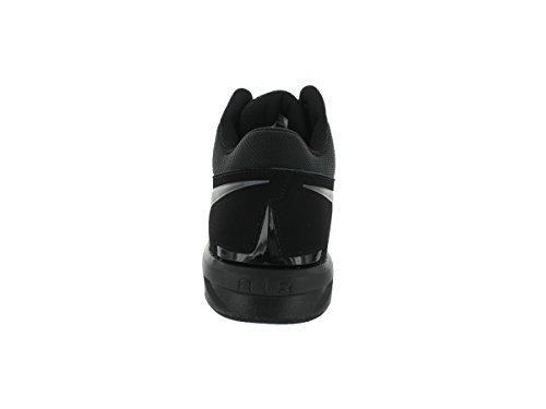 Zapatos de entrenamiento del zumbido del aire de impacto desmontable grapas del balompié del deport negro/gris oscuro
