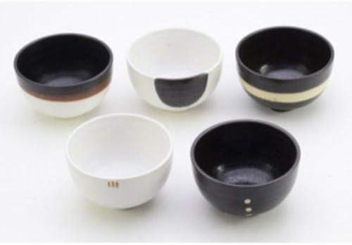 Hinomaru Collection Zen Living Japanese Minoyaki Porcelain 4.75 Inch Ochawan Rice Bowl Set of 6 Traditional Earthenware Glaze Decorative Tabletop 5 Piece Pack Japanese Household Use Made in Japan