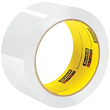 """2"""" x 55 yds. White 3M 373 Carton Sealing Tape 2.5 Mil 6 Pack"""