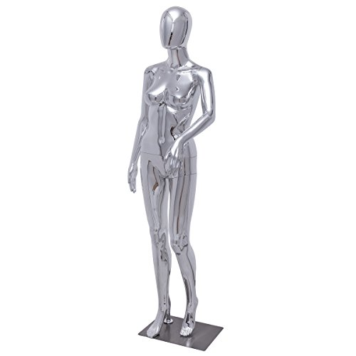 Giantex Female Mannequin Stand Dress Form Full Body w/Base Durable Plastic Dress Form Display High Gloss Standing Pose by Giantex