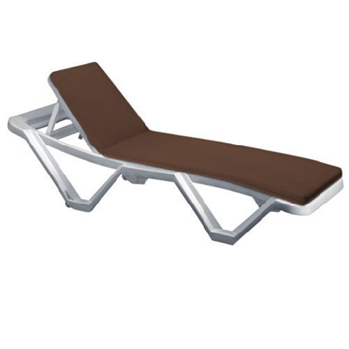 Brown Water Resistant Sun Lounger Pad *Lounger not included* Gardenista