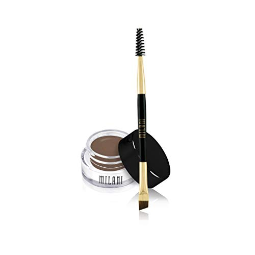 Milani Stay Put Brow Color - Dark Brown (0.09 Ounce) Vegan, Cruelty-Free Eyebrow Color that Fills and Shapes Brows
