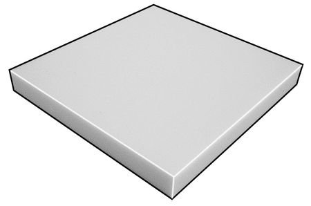 Foam Sheet, AntiStatic Poly, 1/2x36x36 by GRAINGER APPROVED