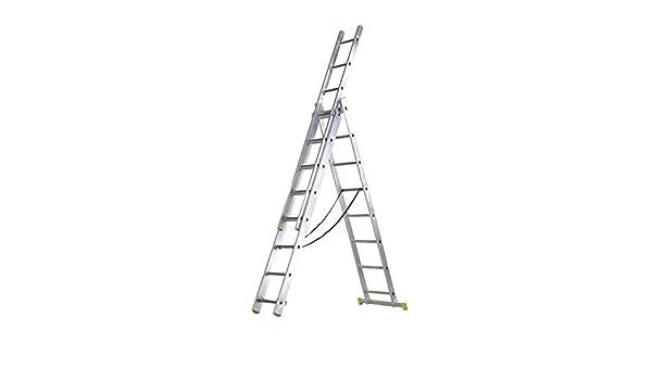 WOLFPACK LINEA PROFESIONAL 23020009 Escalera Aluminio 3 Tramos 7 ...
