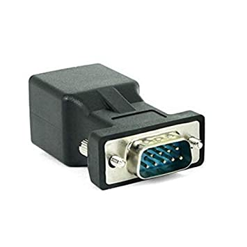 Computer Cables DB9 RS232 Male//Female to RJ45 Female Adapter COM Port to LAN Ethernet Port Converter Cable Length: orther, Color: DB9 Male