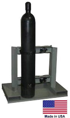 Streamline Industrial CYLINDER STAND PALLET for Propane Welding Gases Compressed Air - 4 Tank Capacity
