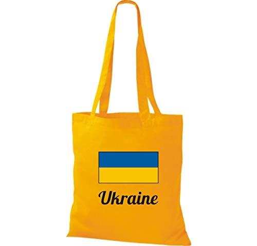 38 Dorado País Bolsa Yute Algodón Cm Mano 42 Claro Bolso Ucrania De Marrón Amarillo Shirtinstyle X HxnvZv
