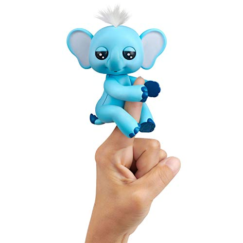 WowWee Fingerlings Baby Elephant - Gray - Interactive Toy