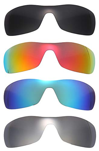 Set of 4 Polarized Replacement Lenses for Oakley Antix Sunglasses ()