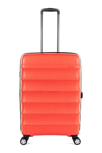 Antler Juno DLX 27'' Expandable Hardside Checked Spinner Luggage (Red) by Antler