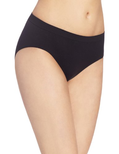 Bali Women's Comfort Revolution Hipster Panty, Black, (Pretty String Thong)