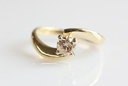 Diamond Engagement Ring, Solitaire 14K Yellow Gold Ring, 0.40 ct diamond , promise ring , yellow gold ring , bride , wedding & engagement
