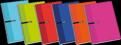 Enri A4 Hardcover Margin Notebook of 100 Pages