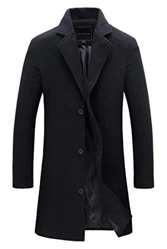 Vêtements Laine Pour À Longues Kaki Manches Kangqi En Trench Hommes D'hiver coat De qZqAdF