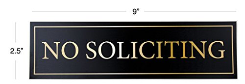 No Soliciting Door Magnet - The Perfect