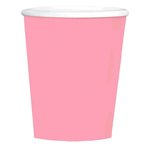 Big Party Pack Paper Coffee Cups | 12 oz.| New Pink| Pack of 40| Party -