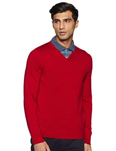 Calvin Klein 100%纯美利奴羊毛V领羊毛衫