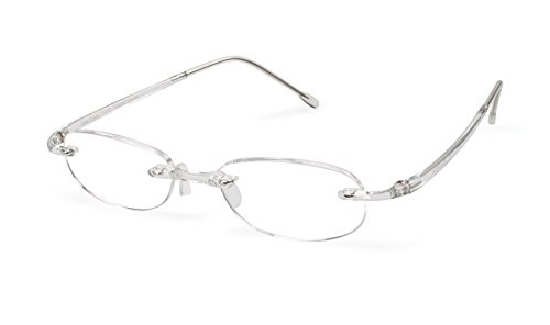 Gels - Lightweight Rimless Fashion Readers - The Original Reading Glasses for Men and Women - Crystal Clear (+2.50 Magnification Power) ()