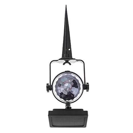 Solar Power Lamp Led Projector Light Rotating Colorful Light Home Yard Decor//=
