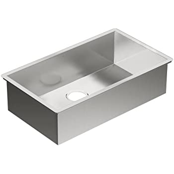 Moen G18180 1800 Series 18 Gauge Single Bowl Undermount Sink, Stainless  Steel