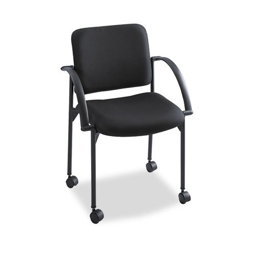 Safco Moto Stack Chair (Qty.2) in Black (4184BL)
