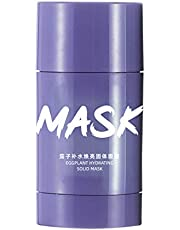 ZYZS Groene thee Purifying Clay Stick Mask Oliecontrole Gezichtsmasker, Stick Deep Cleansing Anti-Acne Mask Fine Solid Mask Green Tea, Aubergine Acne Cleansing Solid Mask