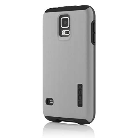 Incipio DualPro Shine Case for Samsung Galaxy S5 - Retail Packaging - Silver/Black (Incipio Phone Case For Galaxy S5)