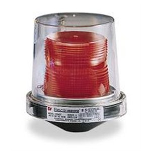 Federal Signal 225XST-120R Electraray Hazardous Location Strobe Warning Light, 1/2'' NPT Pipe Mount, 120 VAC, Red