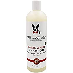 Warren London Magic White Brightening Shampoo for Dogs Cherry Scented - Natural with Almond Oil