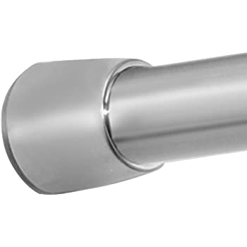 "InterDesign Forma Constant Tension Bathroom Shower Curtain Rod - 43-75"", Medium, Brushed Stainless Steel"