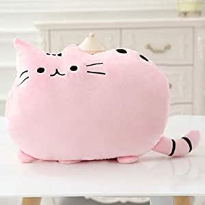 Amazon.com: Kawaii almohada de gato con galletas interiores ...