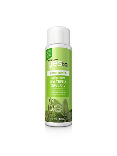 Yes To Naturals Tea Tree & Sage Oil Scalp Relief Conditioner, 12 Fluid Ounce -  815921017538