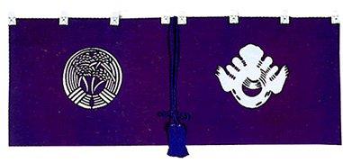 神前幕(規格品/撚房紫単色) 稲荷紋 長170cm×垂35cm B003KYY26Q