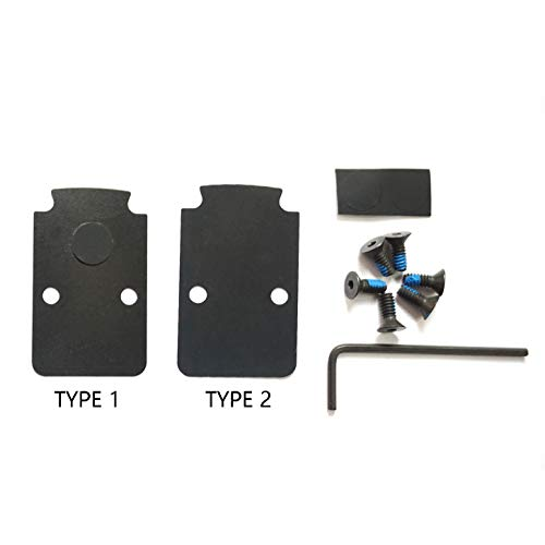 Battle Type - DPP Titanium Mounting Kit/Anti Flicker Sealing Plate Kit for Trijicon RMR Fit Glock MOS and Springfield OSP Models (Black Gen1)