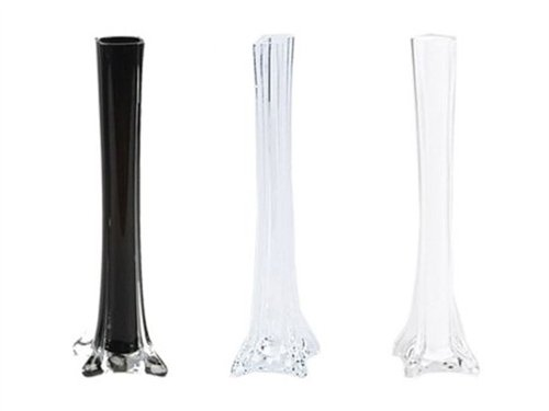 Amazon 12 Glass Eiffel Tower Vases 12 Pack Clear Home