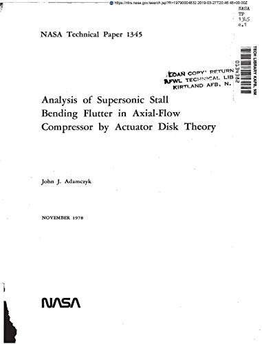 Analysis of supersonic stall bending flutter in axial-flow compressor by actuator disk theory