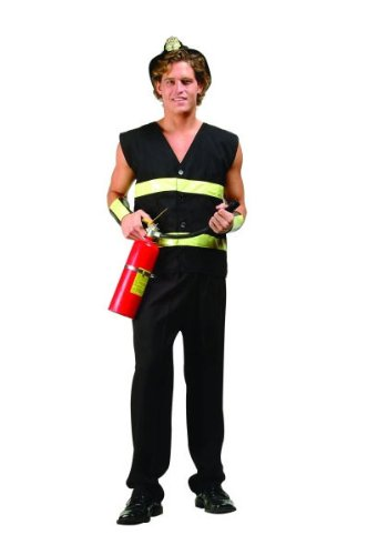 RG Costumes Men's Fire Fighter Costume, Plus Size (Convict Lady Plus Size Costume)
