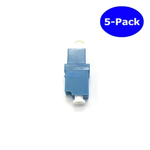 SNS Fiber Optic LC To LC/UPC Simplex Single Mode Adapter 5-Pack