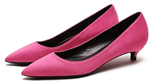 Slip Talons Chaussures Camssoo Faible De Bout Pointu Ve Fête Cour On Rose Femme 8xA5xrt