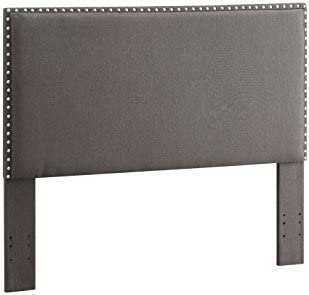 Linon Charcoal Full/Queen Contempo Headboard
