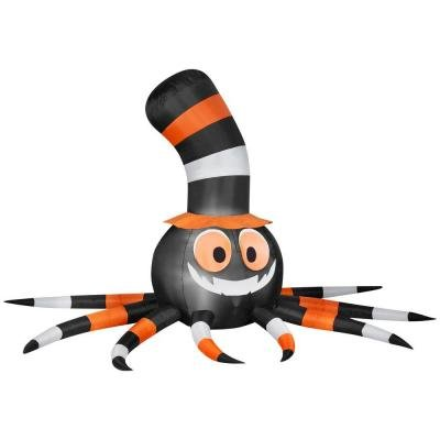 Gemmy Inflatable Airblown Halloween Spider with Stove-Pipe Hat 5' Yard (Halloween Inflatables For Sale)