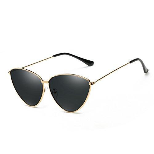 Gafas Goldframeallgray Personalidad Moda De Protección Mujeres Colores De Estilo Gafas De De Gato Varios Ojo UV Sol Polarizado De Selección Simple rpOwrqR4x