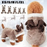 Ducky - Pet Dog Cat Elk Costume Winter Cloth Puppy Suit Christma Dress - Favorite Loved Preferred Deary Favourite Favored Darling Dearie Positron Emission - 1PCs