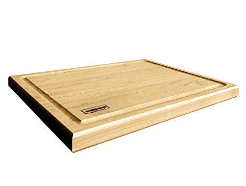 Maple Wood Cutting Boards for Kitchen 12x8 | Hardwood Kitchen Board Serving as a Wooden Block for Your Kitchen with Juice Groove