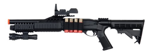 BBTac BT-BT180C2 Pump Action RIS Airsoft Shotgun with Retractable LE Stock by BBTac