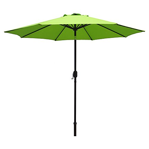 Comfy Hour 9′ Patio Umbrella Outdoor Table Umbrella with 8 Sturdy Ribs, Lime Green