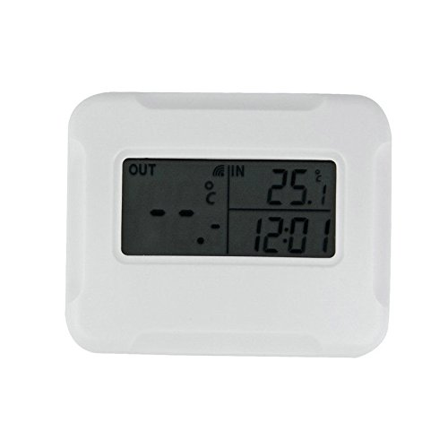 Indoor Outdoor Digital LCD Temp Thermometer With Wireless Remote Sensor (Outdoor Pedestal Clock Thermometer)