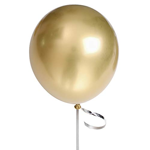 Gold Party Balloons 12inch 50 Pcs Latex Metallic Balloons Birthday Balloons Helium Shiny Balloons Party Decoration Compatible Wedding Birthday Baby Shower Christmas Party - Metallic Gold
