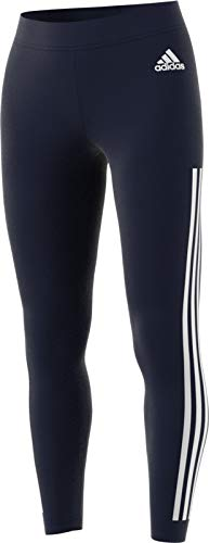 adidas Women's 3-Stripes Tights, Legend Ink/White, XX-Small by adidas